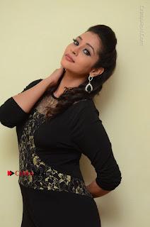 Telugu Actress Manasa Manohar Stills in Black Long Dress at Naku Nene Thopu Turumu Trailer Launch  0050.JPG