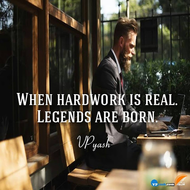 Hard Work Is The Only Way To Success...