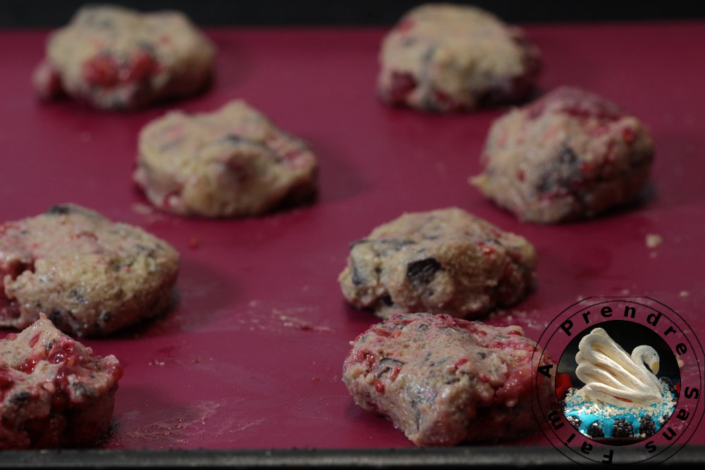 Cookies au son d'avoine et framboises (pas à pas en photos)