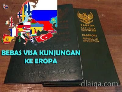 Status Bebas Visa Paspor Indonesia Di Benua Eropa