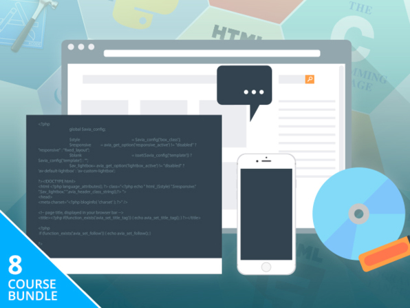 Coding 101 Course Bundle Discount - 8 Courses