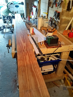Making wooden oars for dinghy