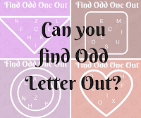 Can you find Odd Letter Out? Picture Puzzles