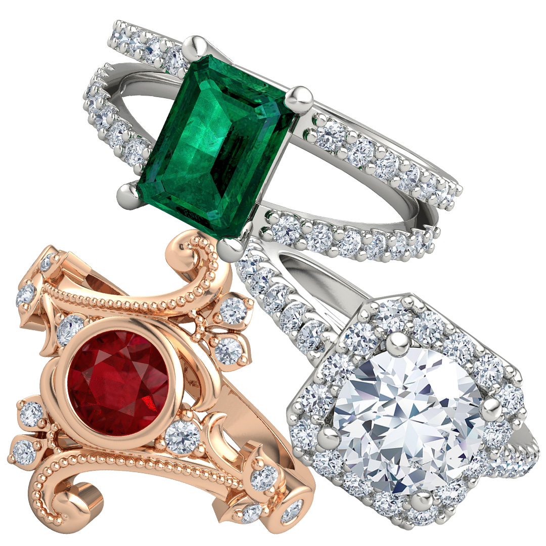 Unique Holiday Engagement Rings with Gemvara