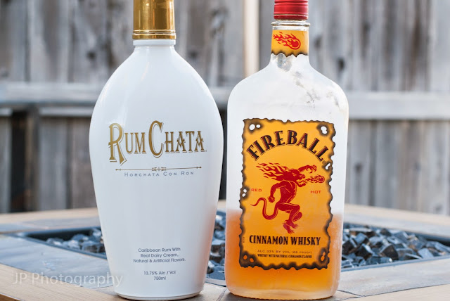 golden cinnamon grahams cocktail cereal, rum chata, fireball whisky, cinnamon whisky