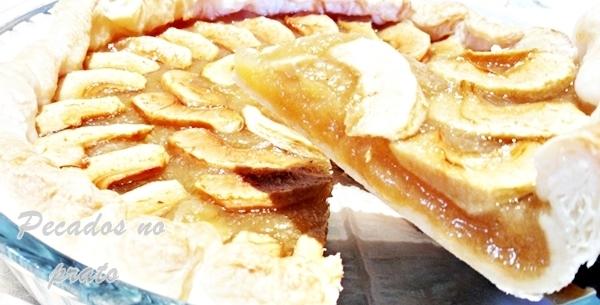 Receita de tarte de maçã simples