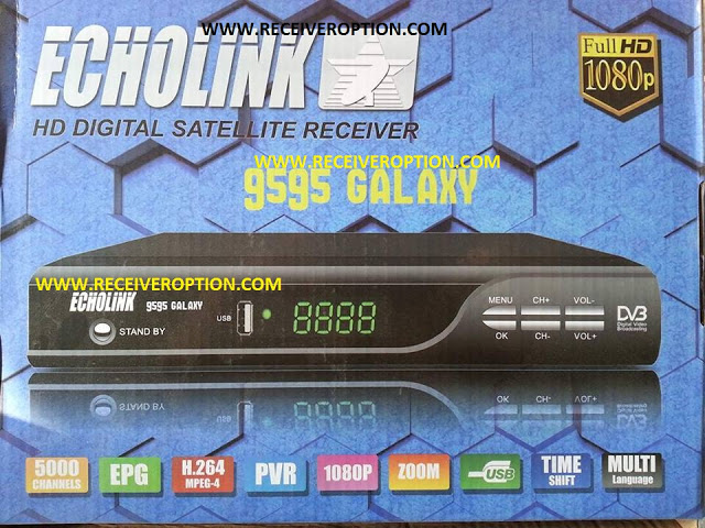 ECHOLINK 9595 GALAXY HD RECEIVER POWERVU KEY FIXED NEW SOFTWARE