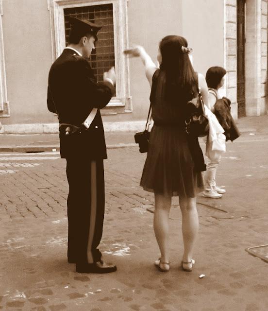 Rome street policeman