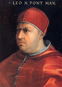 Pope Leo X (1513 to 1521)