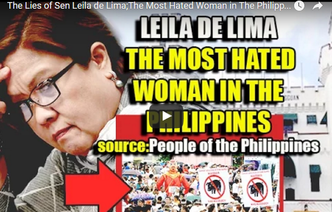 The Lies of Sen Leila de Lima;The Most Hated Woman in The Philippines