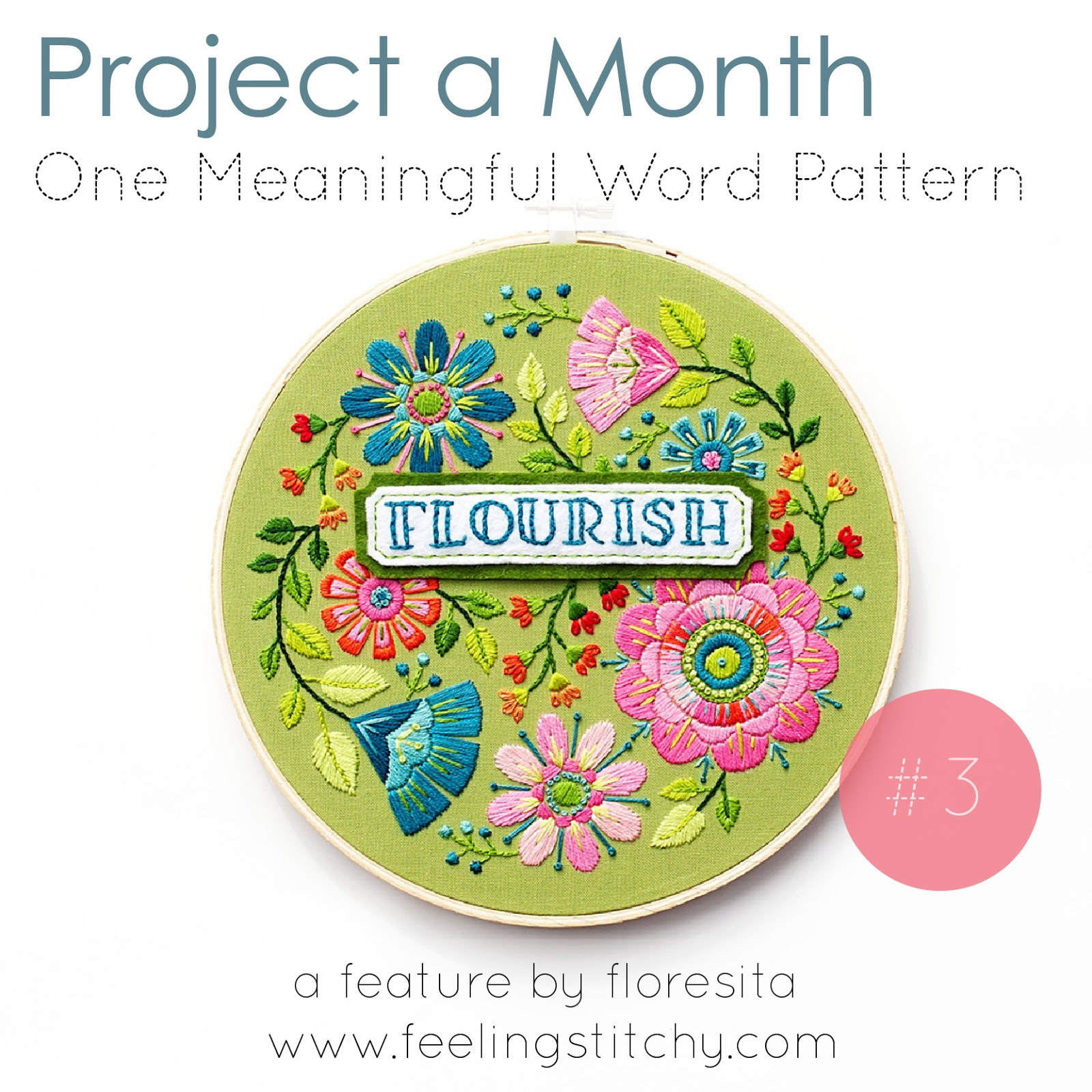 Project a Month- March - One Meaningful Word pattern by Lolli and Grace
