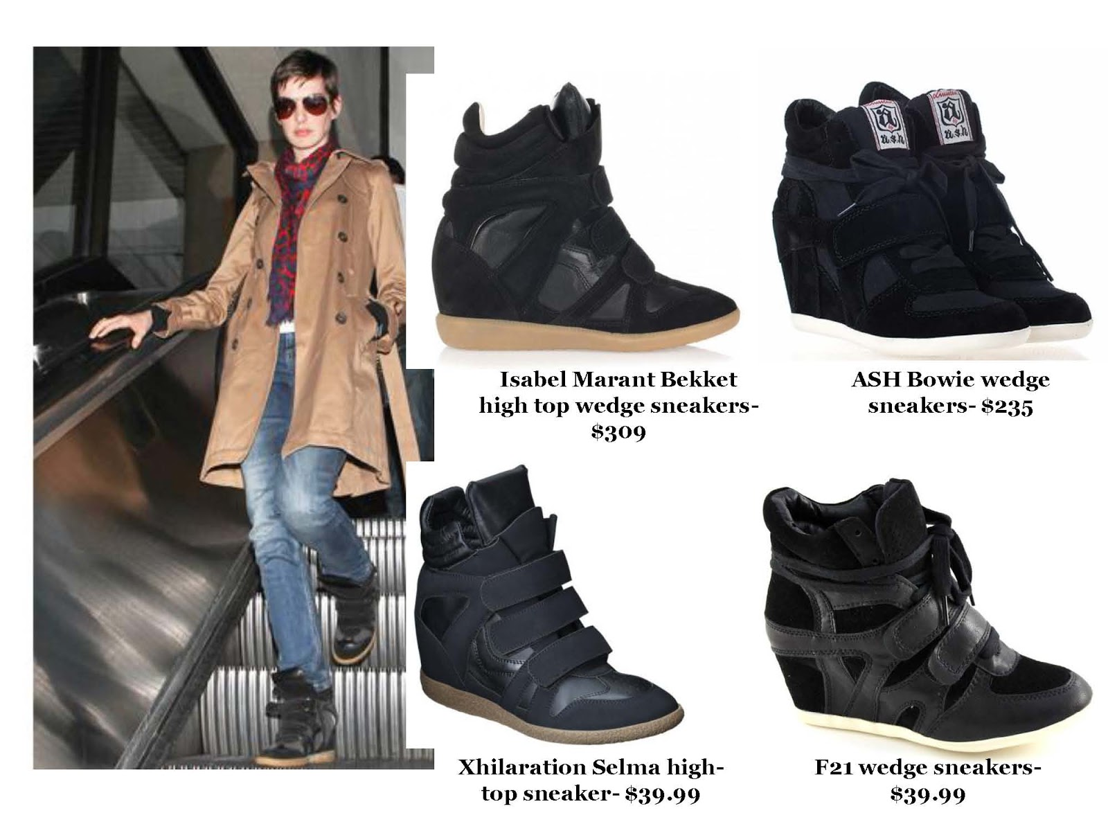e5559a2d7c3 Modish Means  Trend  Wedge Sneakers