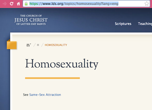 "Why the Mormon Church Won't Say ""Homosexuality"""