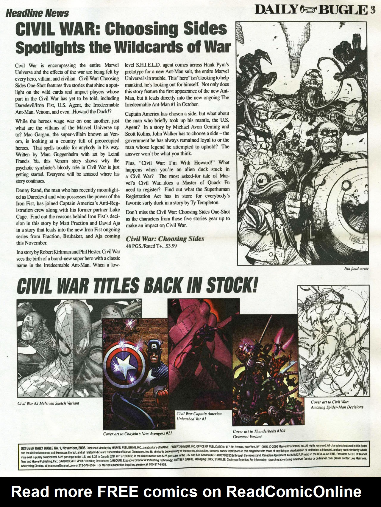 Read online Daily Bugle (2006) comic -  Issue #1 - 4