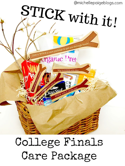 Stick with it!  College finals care package ideas @michellepaigeblogs.com