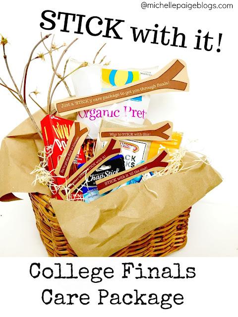 Stick with it!  College finals care package ideas @michellepaigeblogs.com