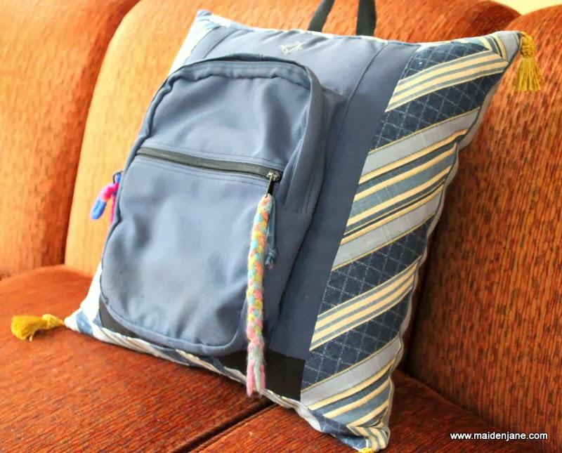 DIY Backpack Memory Pillow | Maiden Jane