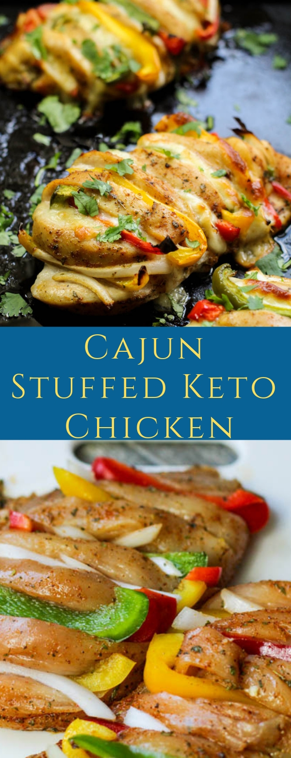 Cajun Stuffed Keto Chicken