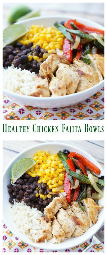 Healthy Chicken Fajita Bowls