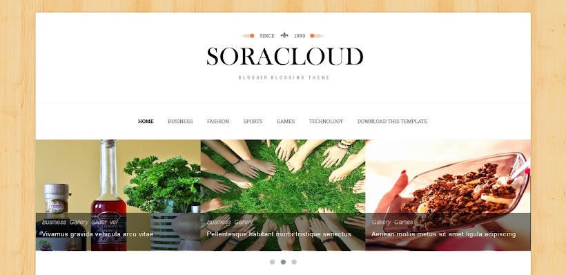 Sora Cloud Free Blogger Template