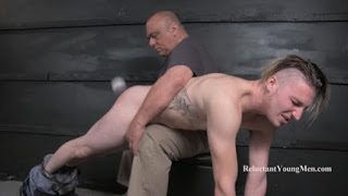 Kevin Spanked by Hand and Brush