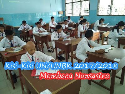 Kisi-Kisi UN/UNBK SMP/MTs Tahun 2018 Terbaru (Membaca Nonsastra)