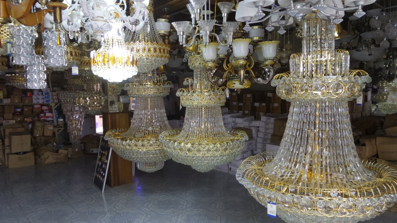 Behold This Amazing Collection Of Chandeliers Right Here In Obosi Anambra State