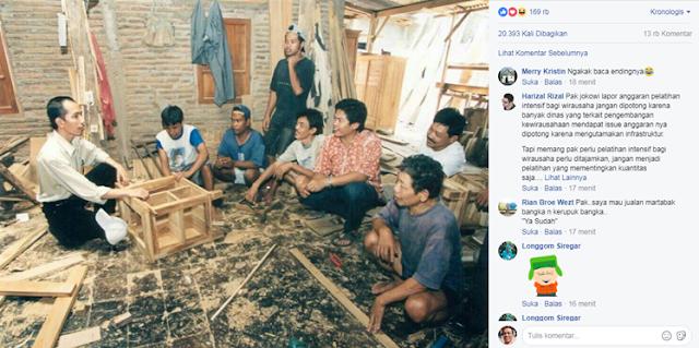 Foto jadul Jokowi saat jadi pengusaha mebel