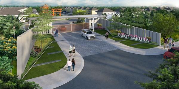 Gerbang Masuk Cluster Bukit SAKURA Citra Indah City