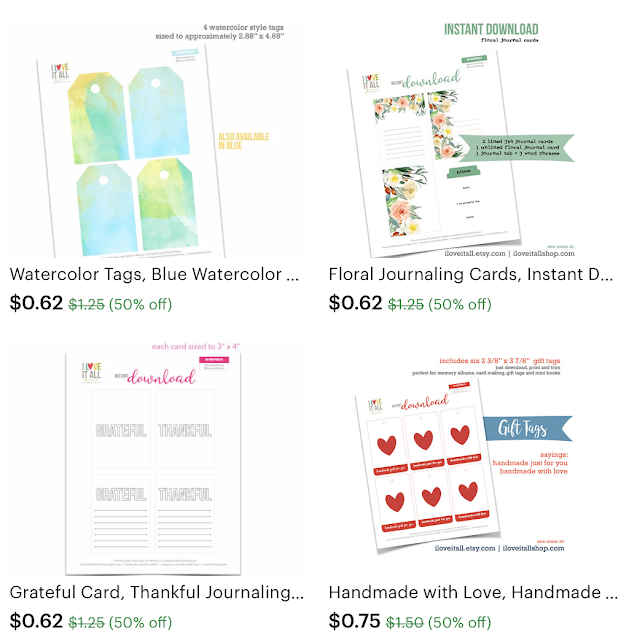 #sale #etsy #half off #art prints #journlaing cards #planner pages #calendars #gratitude journaling # tags #tabs #labels