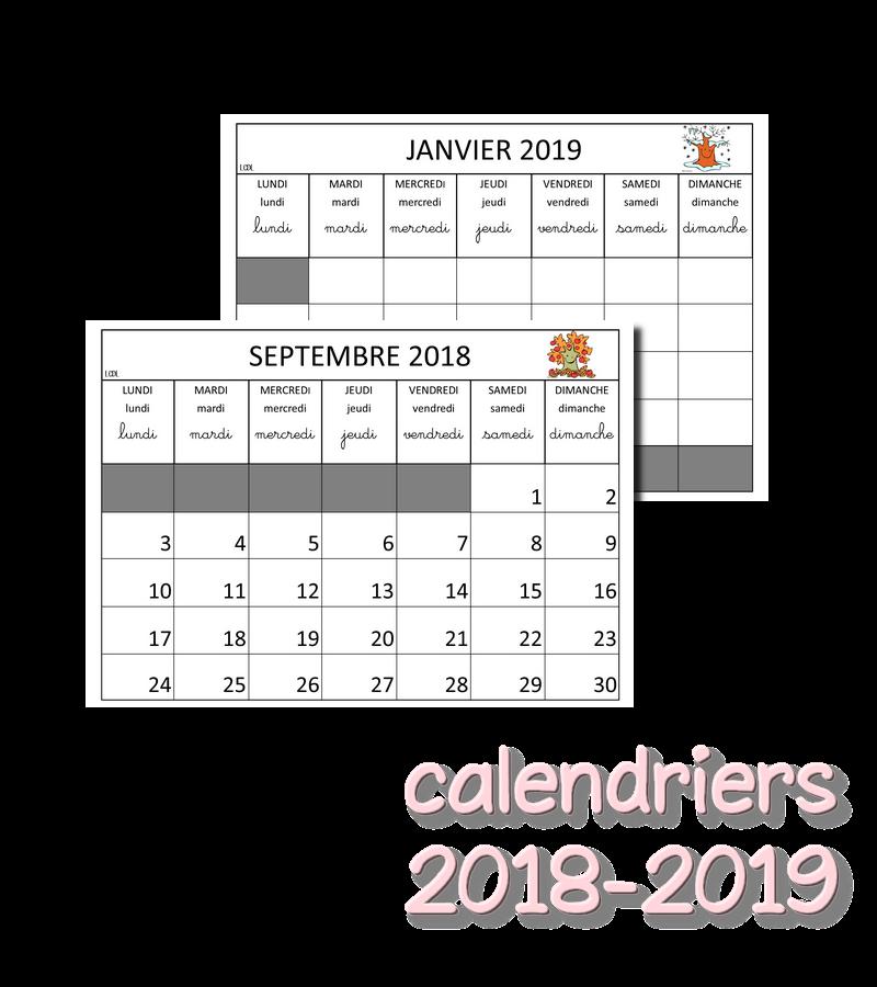 La Maternelle De Laurène Calendriers 2018 2019