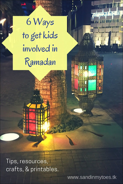 Six ways to get your children involved during Ramadan - ideas, tips, resources, crafts, and printables.