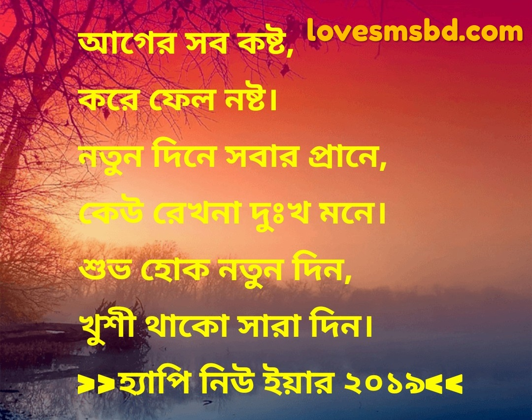 happy new year 2019 বাংলা sms