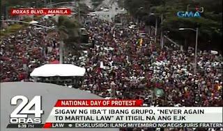 rally, anti duterte, dilawan
