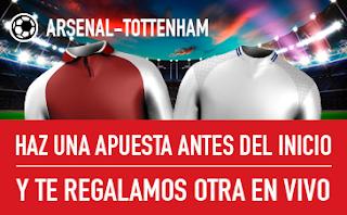 sportium promocion Arsenal vs Tottenham 18 noviembre