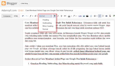 Cara Membuat Artikel Page one Google Dan Inilah Rahasianya
