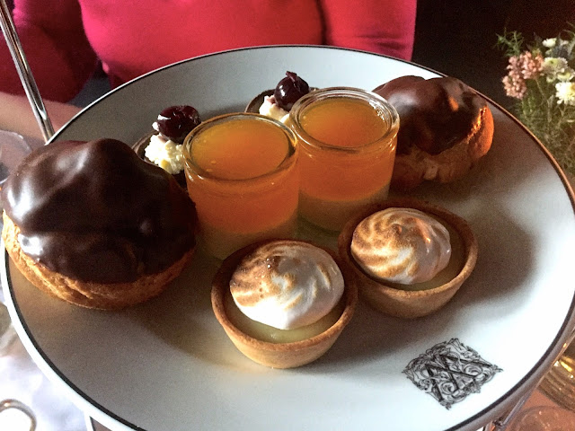 Cake platter for afternoon tea in The Witchery by the Castle, Edinburgh