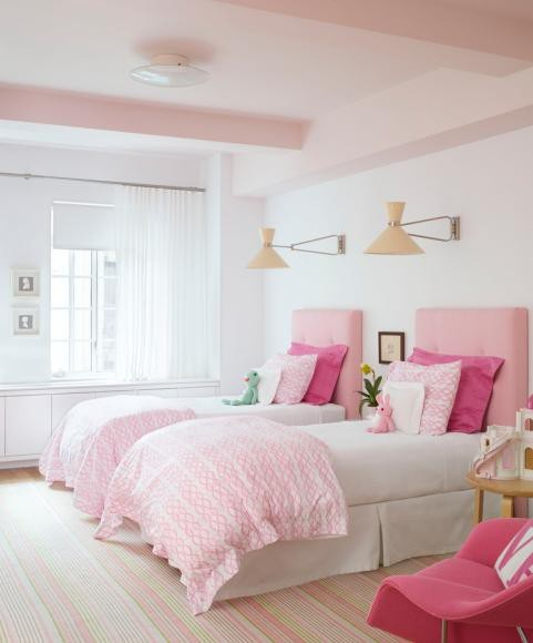 Pink Girls Room: Katie Gavigan Interiors: A Room For Two Sisters