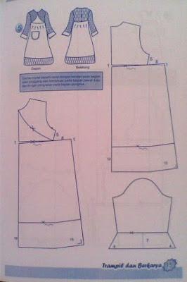 Contoh Pola Baju Muslim Untuk Menjahit Danitailor