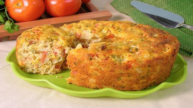 Bolo Salgado de Tomates (Imagem: Reprodução/Guia da Cozinha)