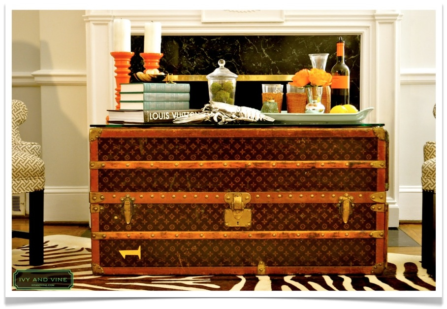 Viola Pearl: Decorating With a Vintage Louis Vuitton Briefcase