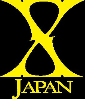 X Japan の背景透過ロゴ 黄色