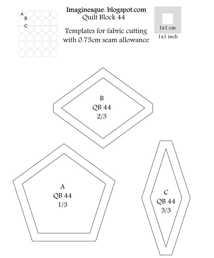 Imaginesque Quilting Block 44 Pattern Amp Templates For