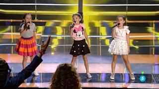 Paula, Carla y Paz cantan Voy a ser el Rey León la voz kids