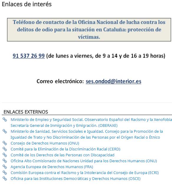 Chacatorex 2017 11 19 for Oficina nacional de lucha contra los delitos de odio