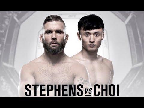 Hórario da Luta Jeremy Stephens x Dooho Choi UFC  - 14/01/2018