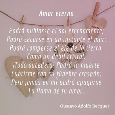 "Poema ""Amor eterno"" de Gustavo Adolfo Becquer"