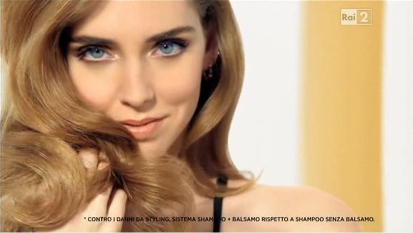 Pantene pubblicità Pro V con Chiara Ferragni con Foto - Testimonial Spot Pubblicitario Pantene 2016