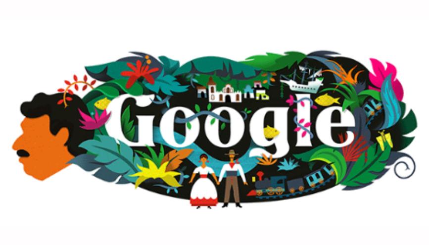 Gabriel García Marquez Google Doodle hari ini