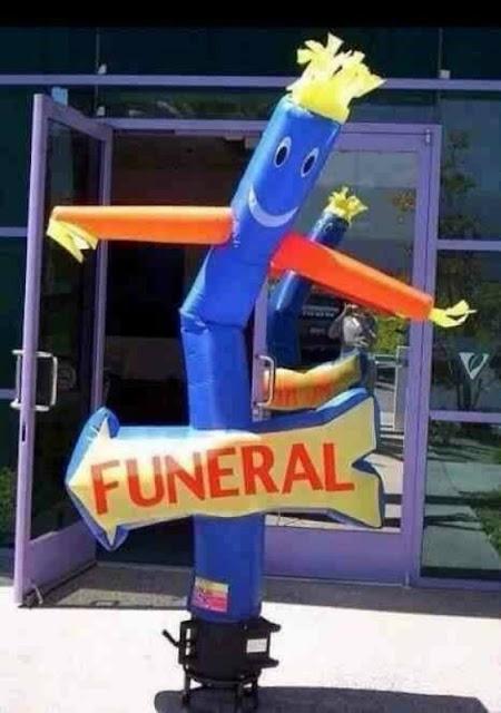 Ele pediu uma festa para o seu funeral
